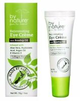 by nature Rejuvenating Eye Creme with Rosehip Oil, Aloe Vera & Collagen 0.5 oz
