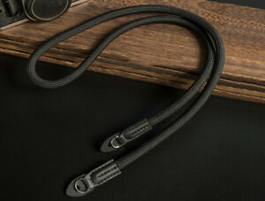 Quality Black Climbing Rope Shoulder Strap 100cm long for DSLR micro - UK SELLER
