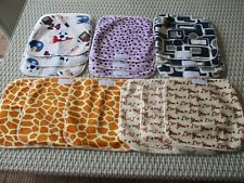 Reusable Washable Bamboo Baby Wipes Cloth Wipes Extremely Soft x 15 - free post