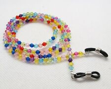 Spectacle/Sun glasses Chain/Cord Mixed Colour 4mm Bicone Beads CLGC41