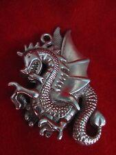 Flying Dragon Pewter Pendant