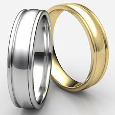 Men's Women's High Polish Comfort Fit Design 6mm 14K Gold Dome Wedding Band Ring