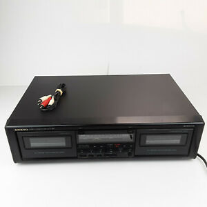 Onkyo TA-RW303 Double Cassette Deck Audio Tape Player Recorder Tested w/Cables