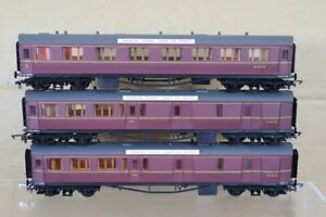 AIRFIX RAKE of 3 BR MR MAROON CENTENARY COMPOSITE & BRAKE COACH nt