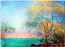 "CLAUDE MONET ~ Morning at Antibes  ~ *FRAMED* CANVAS ART Poster ~ 24x16"""