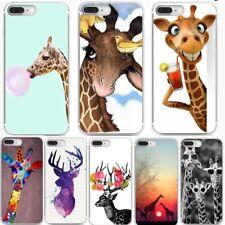 Cute Giraffe Pattern Soft TPU Phone Case Cover For iPhone 5 5s 6 6s 7 8 Plus