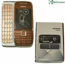 BNIB NOKIA E75-1 TOPAZ / GOLD 50MB QWERTY UK FACTORY UNLOCKED 3G 2G GSM OEM