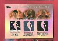 KEVIN GARNETT  YAO MING ALONZO MOURNING 3 GAME USED JERSEY card 04 TOPPS TRIBUTE