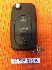 VW NEW BEETLE CENTRAL LOCK REMOTE KEY FOB 1J0 959 753 B 1J0959753B CAN CUT& CODE