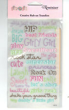 Reminisce GIRLY GIRL Rub-Ons Sheet scrapbooking FUN GROOVY SHOP BFF ROCK ON