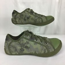 "DIESEL ""RODBY"" green canvas camo camouflage sneaker/shoe . women's 5 / youth 3.5"