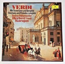 Herbert von Karajan 1976 Import Box Set 2 Vinyl 2707090 Verdi Overtures Preludes