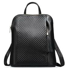 travel womens Genuine Leather Quilted backpack messenger School backpack Bag
