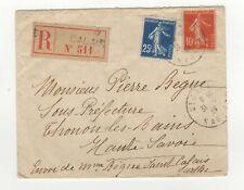 France 2 timbres sur lettre R 1917 tampon St-Calais /L449
