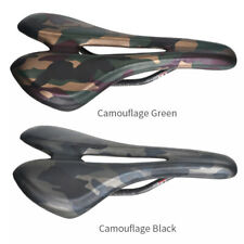 Carbon Leather Mountain Road Bike Bicycle Racing Seat Saddles Hollow Camouflage