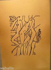 Nackte Frau drei Lesben   1924  Tuschezeichnung  Erotik Nr.2