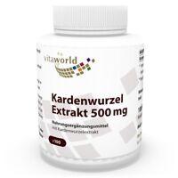 Vita World Kardenwurzel Extrakt 500mg 100 Vegi Kaps. Made in Germany