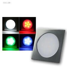 5x Reflector empotrable led RGB, slim-eckig Lámpara de pie Foco Suelo