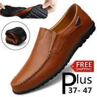 Men Oxford Leather Leisure shoes Dress Formal Business Casual Round Soft Wedding