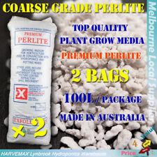 2x 100L Coarse Grade Perlite Quality Plant Grow Media Hydroponics Grow Medium