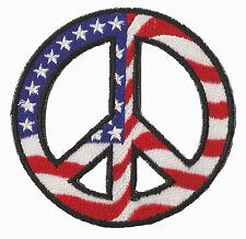 Ecusson brodé patche Peace & Love USA thermocollant patch US