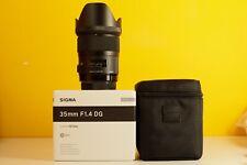 Sigma 35mm f/1.4 DG HSM Art Lens for Canon with Box 5D 6D 1D 7D A7