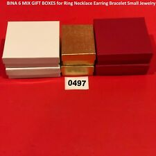 BINA 6 MIX GIFT BOXES for Ring Necklace Earring Bracelet Small Jewelry