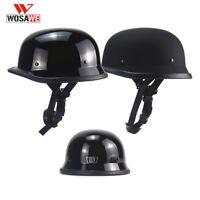DOT Approved Motorcycle Half Helmet Skull Cap German MTB Cycling Bike Helmets