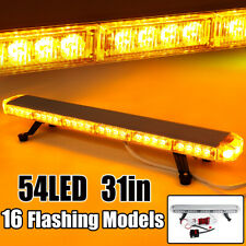 "Amber 54LED 31"" Traffic Advisor Dual Emergency Dash Flash Strobe Light Bar 162W"