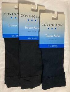 Vtg- Sears Covington Nylon Trouser Socks Women's Black, Navy -3 pair.