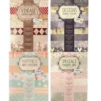 Design Pad Card Craft Designer Flower Pattern Paper Range 100g / 200gram 3 Sizes
