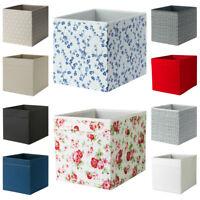DRONA Storage Box IKEA 33 x 38 x 33cm Fold Down Fabric Sides Storage Unit