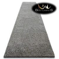 Modern Hall Runners soft SHAGGY Carpet 5cm Grey Width 60-140cm extra long RUGS