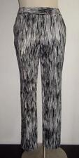 CALVIN KLEIN MS SIZE 4 BLACK & WHITE PRINTED FLAT FRONT ANKLE SKINNY PANTS