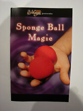 SPONGE BALL MAGIC BOOK TIPS AND TRICKS LEARN SLEIGHT OF HAND VANISH & REAPPEAR