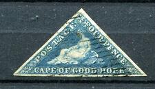 Kap der Guten Hoffnung - 1 seltene Briefmarke von 1863 - Four Pence - gestempelt