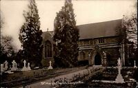 Long Ditton Surrey England AK ~1930/40 St. Mary Church Kirche Friedhof Graveyard