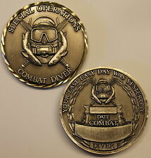 Special Operations Forces Combat Diver Sharks Army Challenge Coin