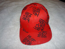 MENS BASEBALL HAT CAP RARE SNAPBACK HUF GANG SF CA RED BLACK USA COOL