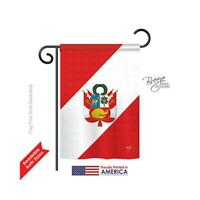 Breeze Decor 58153 Peru 2-Sided Impression Garden Flag - 13 x 18.5 in.