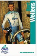 CYCLISME carte cycliste BART WELLENS  équipe FIDEA cycling team