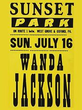 "Wanda Jackson Sunset Park 16"" x 12"" Photo Repro Concert Poster"