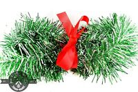 Silver & Green Tinsel Garland 25FT Length 3IN Width Philadelphia Eagles Colors