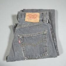 Ladies Grey LEVI 501 W28 L34 Vintage Mom Mum High Waist Jeans 501s #F2352