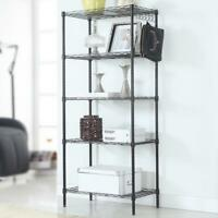 5 Layers Wire Shelves Unit Adjustable Metal Shelf Rack Kitchen Storage Organizer
