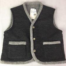 Gap Athletic Reversible Vest Size Medium Wool Acrylic Polyester Gray