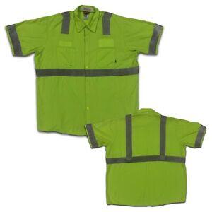 Red Kap Hi Vis Reflective Shirt Enhanced Visibility Industrial Uniform 2XL #B10