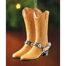 Cowboy Light Tan Boots Ornament