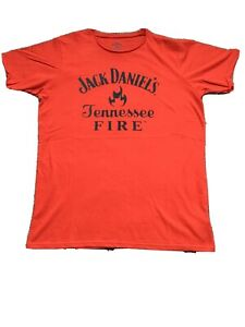 Jack Daniel's Tennessee Fire Men's T-shirt Red Size M