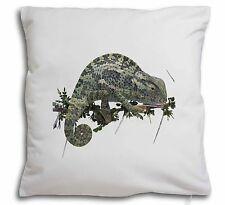 Chameleon Lizard Soft Velvet Feel Cushion Cover With Inner Pillow, AR-L5-CPW